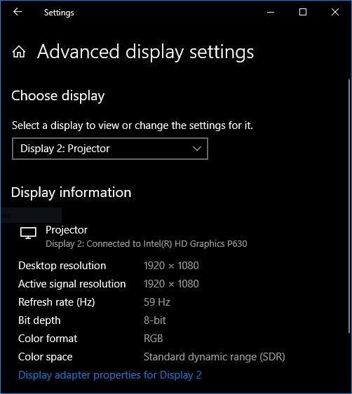 PPX620 Resolution on Windows 10 via USB-C & HDMI